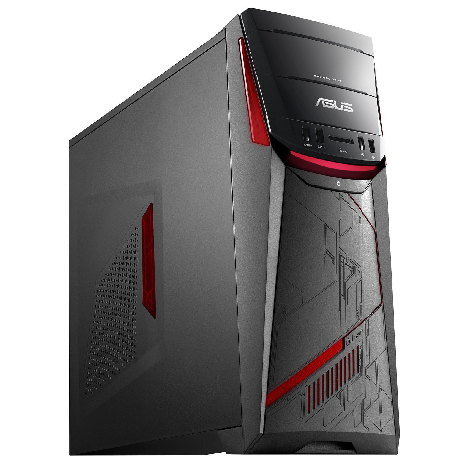 PC de bureau ASUS G11CD-K-FR039T Intel Core i5-7400 8 Go HDD 1 To NVIDIA GeForce GTX 1050 2 Go Graveur DVD Wi-Fi AC/Bluetooth Windows 10 Famille 64 bits (sans écran)
