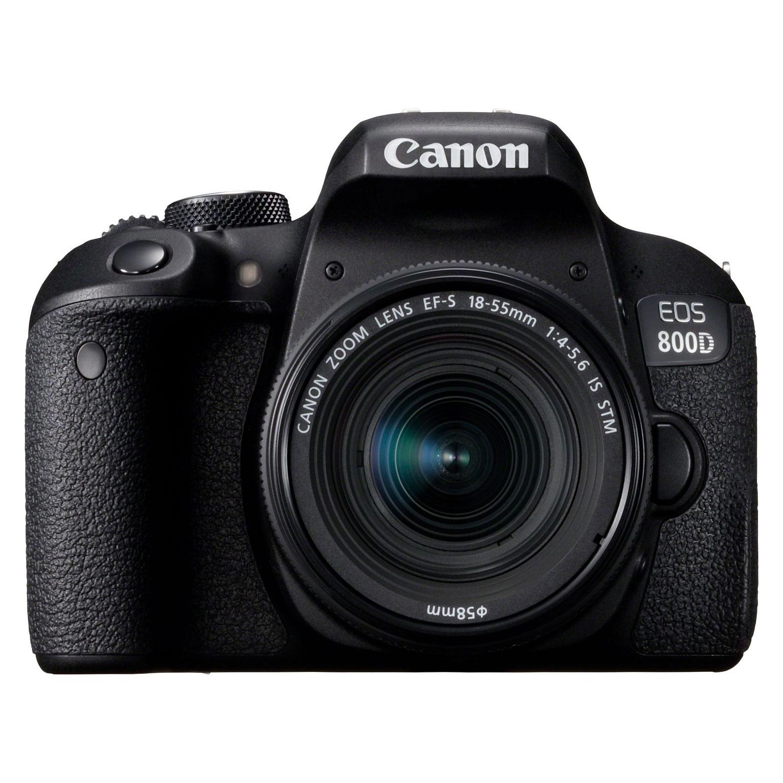 """Appareil photo Reflex Canon EOS 800D + 18-55 IS STM Reflex Numérique 24.2 MP - Ecran tactile orientable 3"""" - Dual AF - Vidéo Full HD 60p - Wi-Fi/NFC - Bluetooth (boîtier nu) + Objectif EF-S 18-55 mm f/4-5.6 IS STM"""