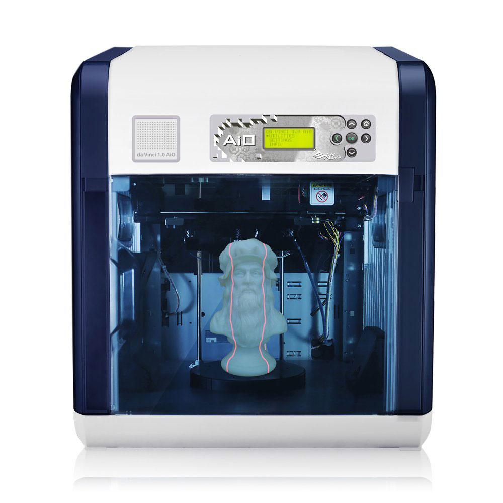 Imprimante 3D XYZprinting Da Vinci 1.0 AiO Imprimante 3D multifonction couleur à 1 tête d'impression PLA/ABS - USB 2.0