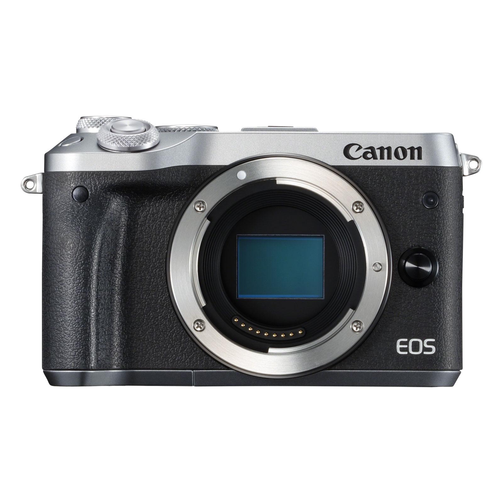 canon eos m6 argent appareil photo hybride canon sur. Black Bedroom Furniture Sets. Home Design Ideas