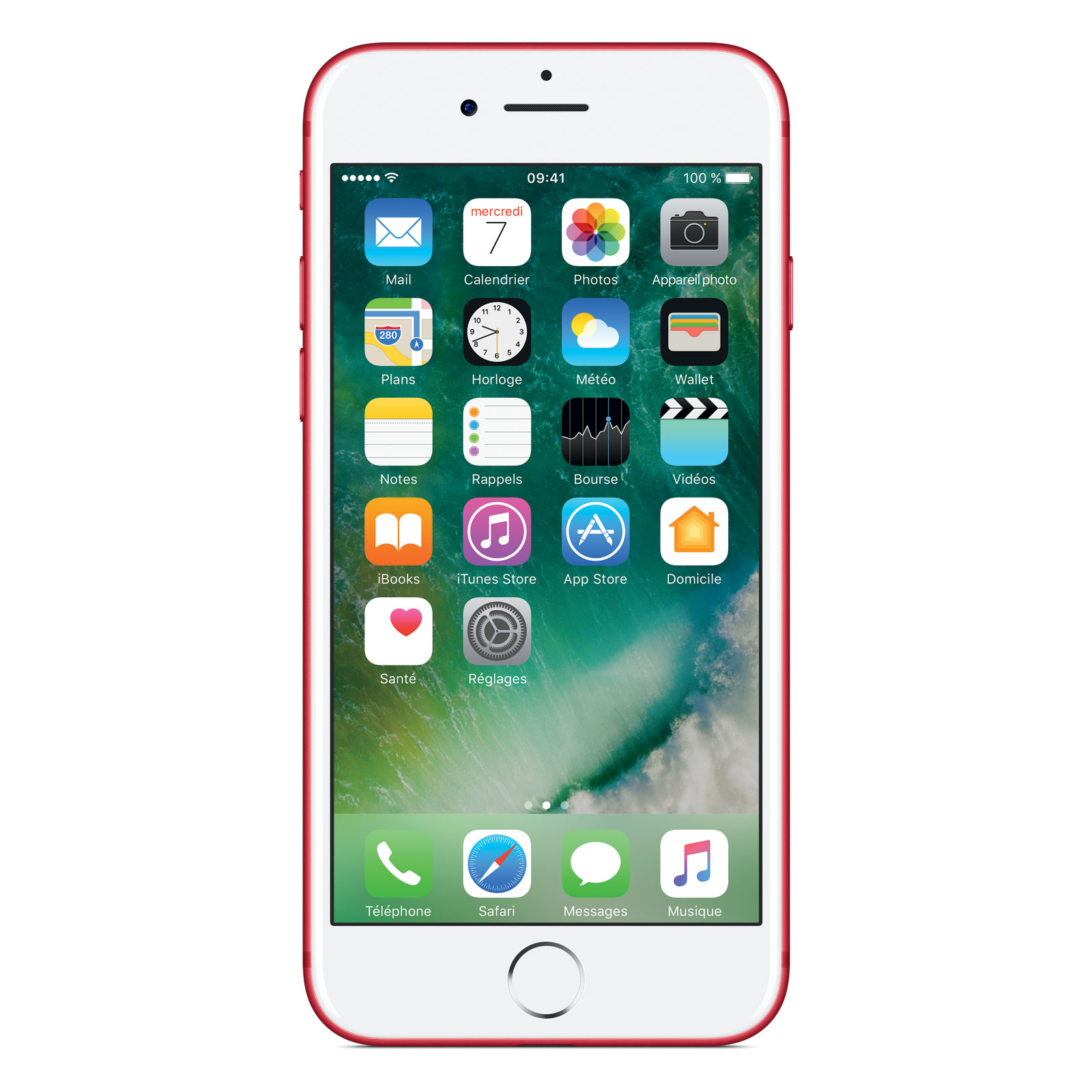 "Mobile & smartphone Apple iPhone 7 256 Go Rouge Special Edition Smartphone 4G-LTE Advanced IP67 - Apple A10 Fusion Quad-Core 2.3 GHz - RAM 2 Go - Ecran Retina 4.7"" 750 x 1334 - 256 Go - NFC/Bluetooth 4.2 - iOS 10"