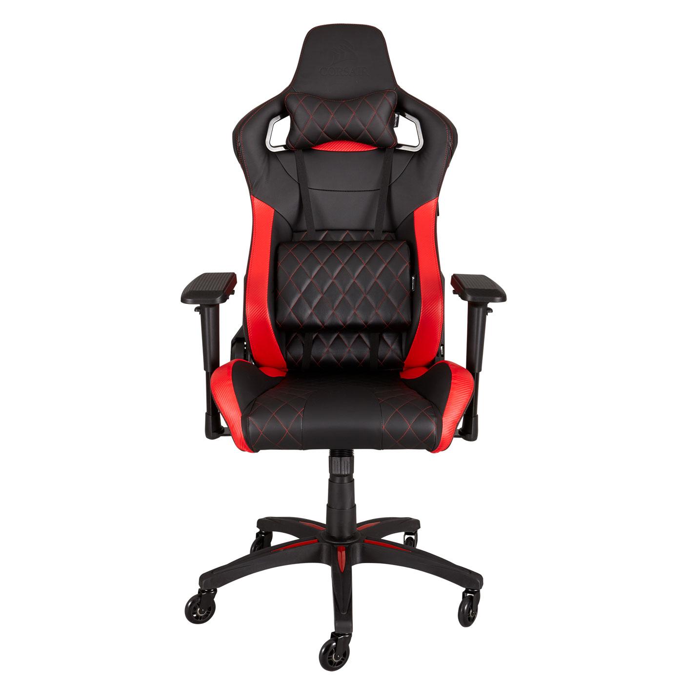 corsair t1 race noir rouge fauteuil gamer corsair sur. Black Bedroom Furniture Sets. Home Design Ideas