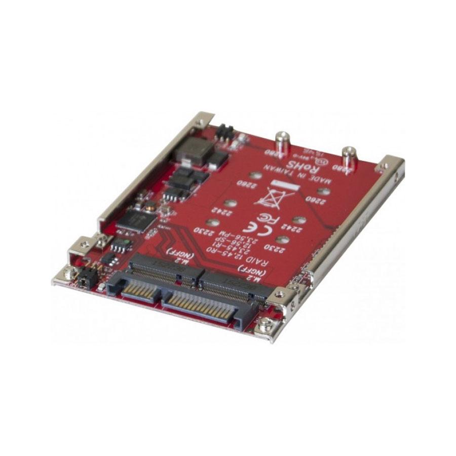 "Serial ATA Adaptateur RAID 2x M.2 NGFF SSD vers SATA 2,5"" Adaptateur RAID M.2 SATA vers SATA 2.5"" (compatible M.2 2230/2242/2260/2280)"