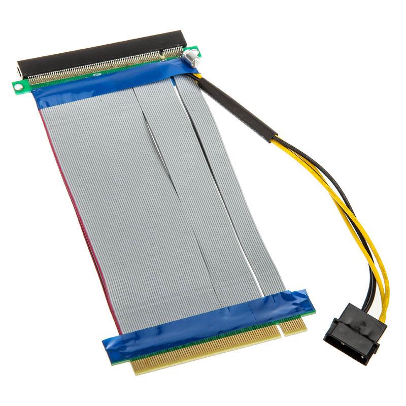 Alimentation Adaptateur horizontal (riser) PCI-Express 16x - Nappe 190 mm Adaptateur horizontal (riser) PCI-Express 16x - Nappe 190 mm
