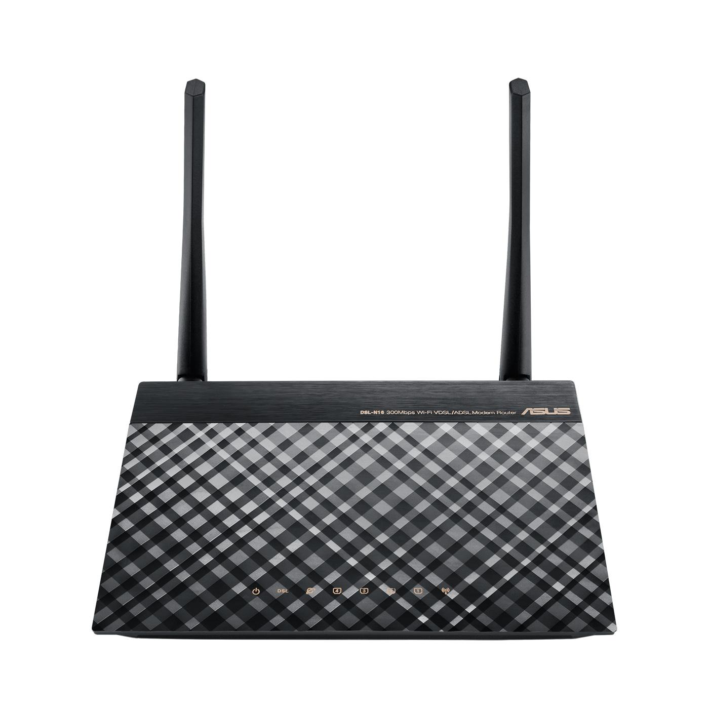 Modem & routeur ASUS DSL-N16 Modem Routeur sans fil WiFi 802.11n 300 Mbps + 4 ports LAN 10/100 Mbps
