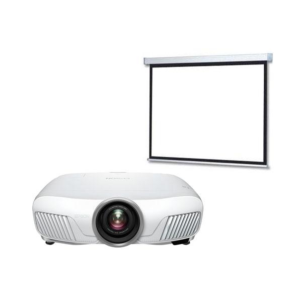 Vidéoprojecteur Epson EH-TW7300 + LDLC Ecran motorisé 240 x 135 Vidéoprojecteur 3LCD Full HD 1080p 3D 2300 Lumens HDR, HDMI et Ethernet + Ecran motorisé - Format 16:9 - 240 x 135 cm