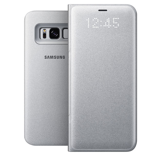 samsung led view cover argent samsung galaxy s8 etui