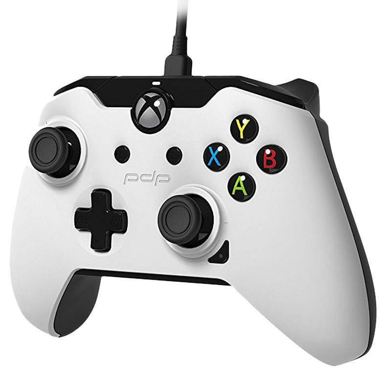 pdp wired controller blanc pc xbox one accessoires xbox one pdp sur. Black Bedroom Furniture Sets. Home Design Ideas