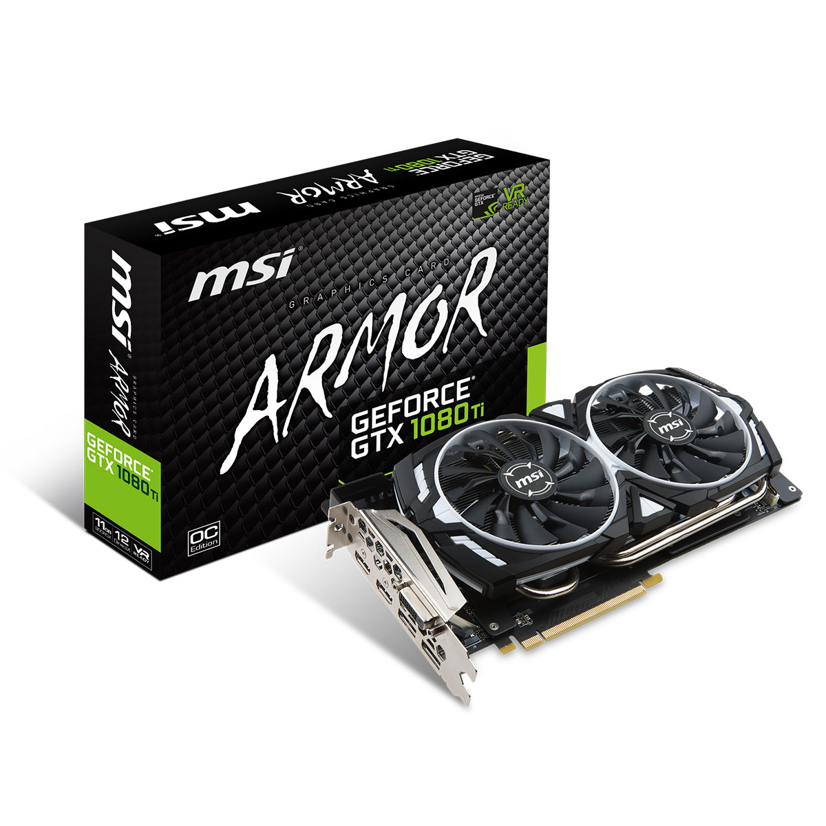 msi geforce gtx 1080 ti armor 11g oc carte graphique msi sur. Black Bedroom Furniture Sets. Home Design Ideas
