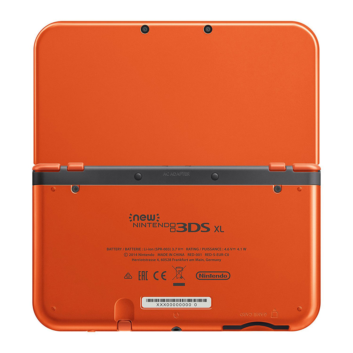 nintendo new 3ds xl orange console nintendo 3ds nintendo sur. Black Bedroom Furniture Sets. Home Design Ideas