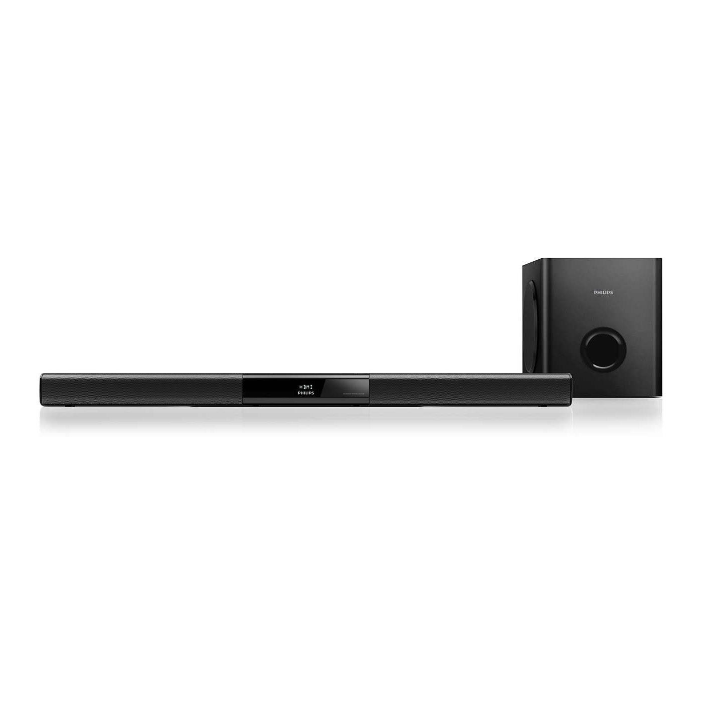philips htl3110b barre de son philips sur. Black Bedroom Furniture Sets. Home Design Ideas