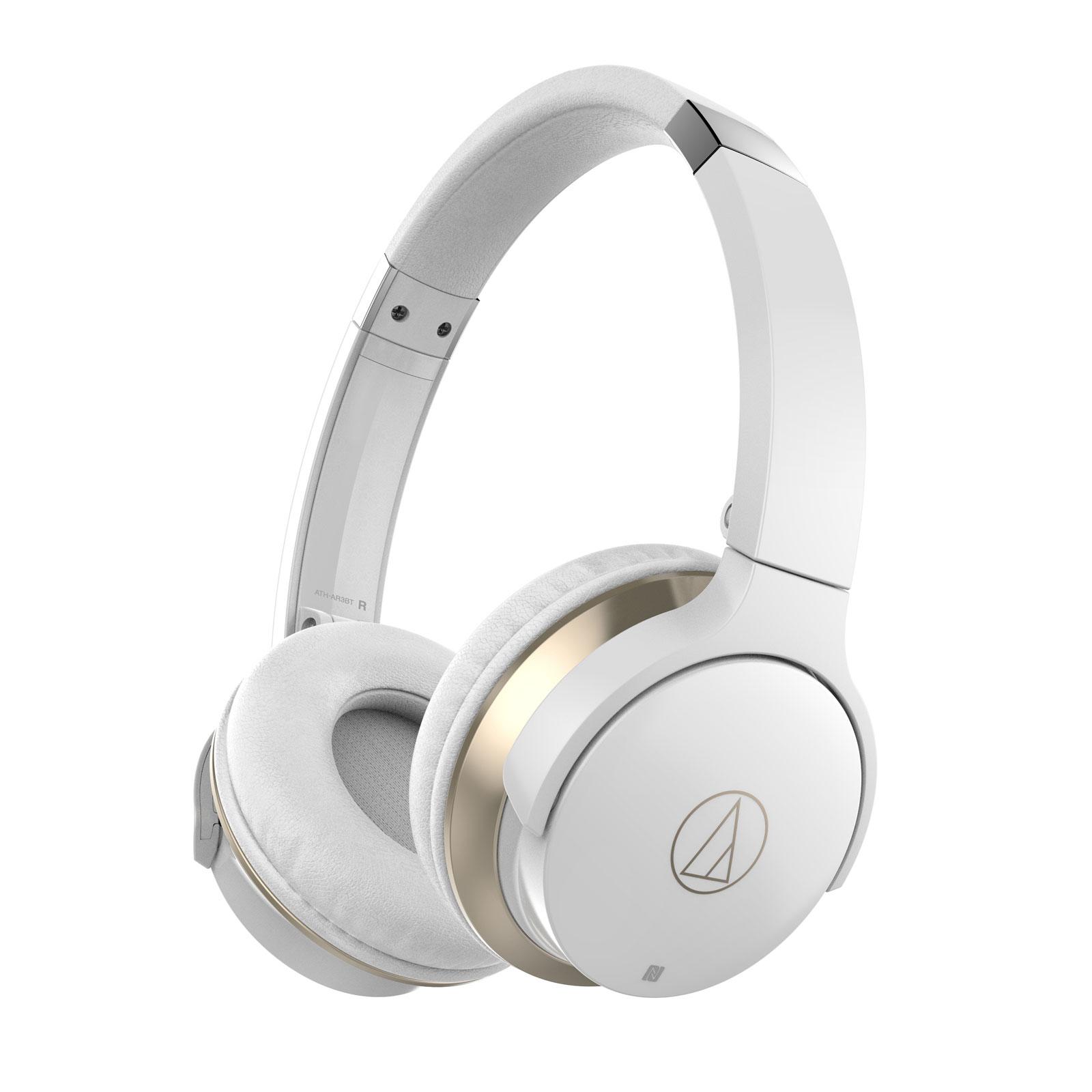 Casque Audio-Technica ATH-AR3BT Blanc Casque supra-auriculaire fermé sans fil Bluetooth/NFC avec télécommande