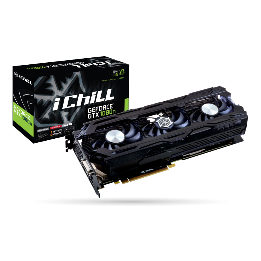Carte graphique INNO3D iChiLL GeForce GTX 1080 Ti X3 11264 Mo DVI/HDMI/Tri DisplayPort - PCI Express (NVIDIA GeForce avec CUDA GTX 1080 Ti)