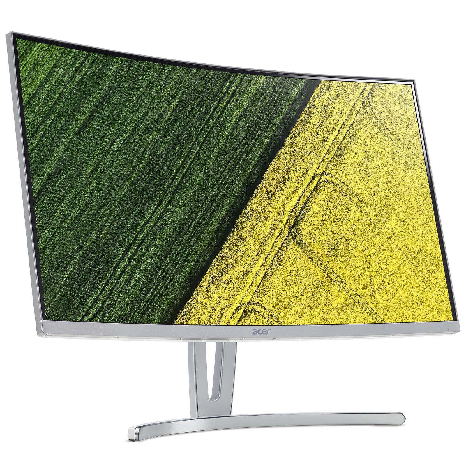 """Ecran PC Acer 27"""" LED - ED273wmidx 1920 x 1080 pixels - 4 ms - Format large 16/9 - Dalle VA incurvée - HDMI - Argent (Garantie constructeur 2 ans)"""
