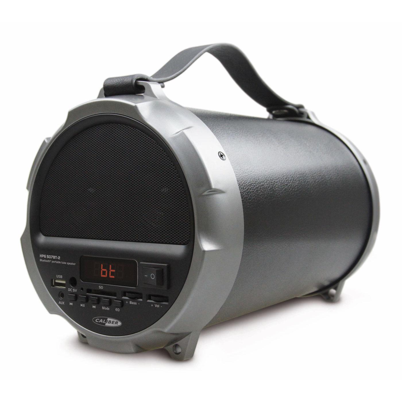 Enceinte Bluetooth Caliber HPG507BT-2 Haut-parleur tube Bluetooth portatif avec batterie intégrée