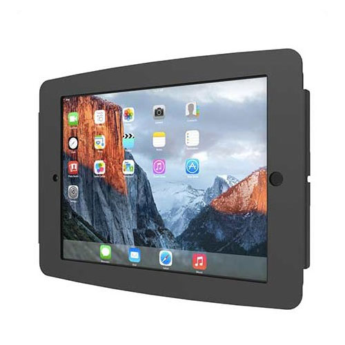 maclocks space ipad enclosure wall mount noir support. Black Bedroom Furniture Sets. Home Design Ideas