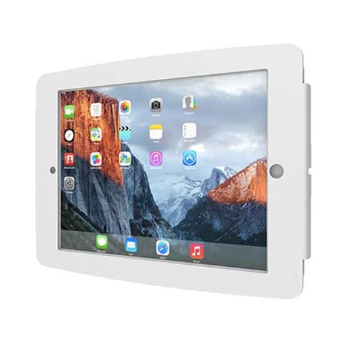 maclocks space ipad enclosure wall mount blanc support. Black Bedroom Furniture Sets. Home Design Ideas