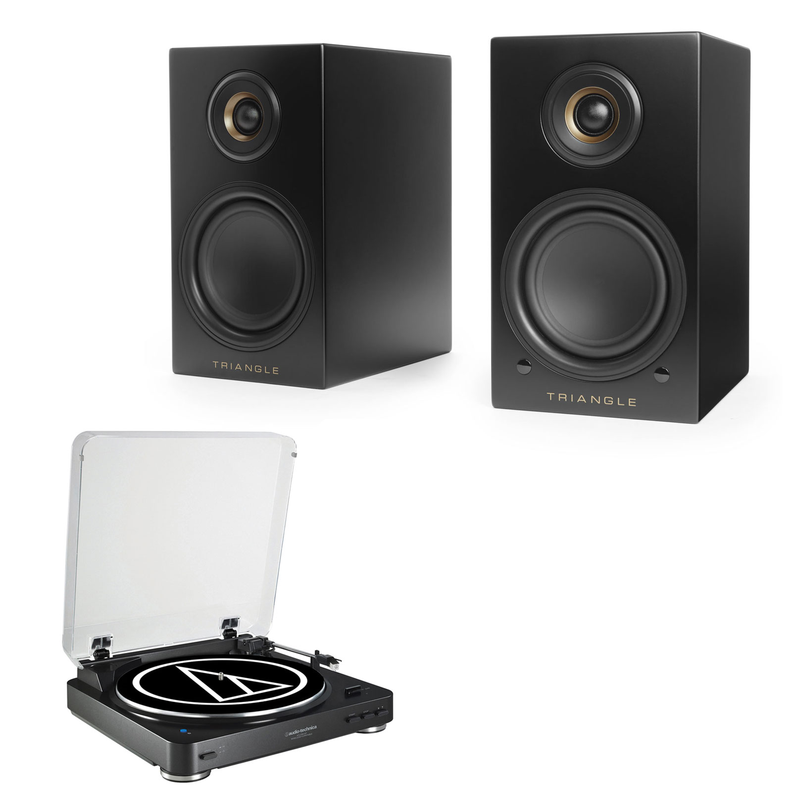 audio technica at lp60bt noir triangle elara ln01a noir. Black Bedroom Furniture Sets. Home Design Ideas