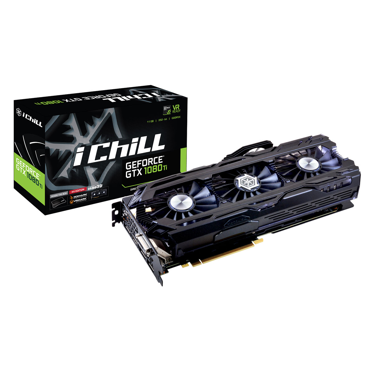 inno3d ichill geforce gtx 1080 ti x4 ultra carte graphique inno 3d sur. Black Bedroom Furniture Sets. Home Design Ideas