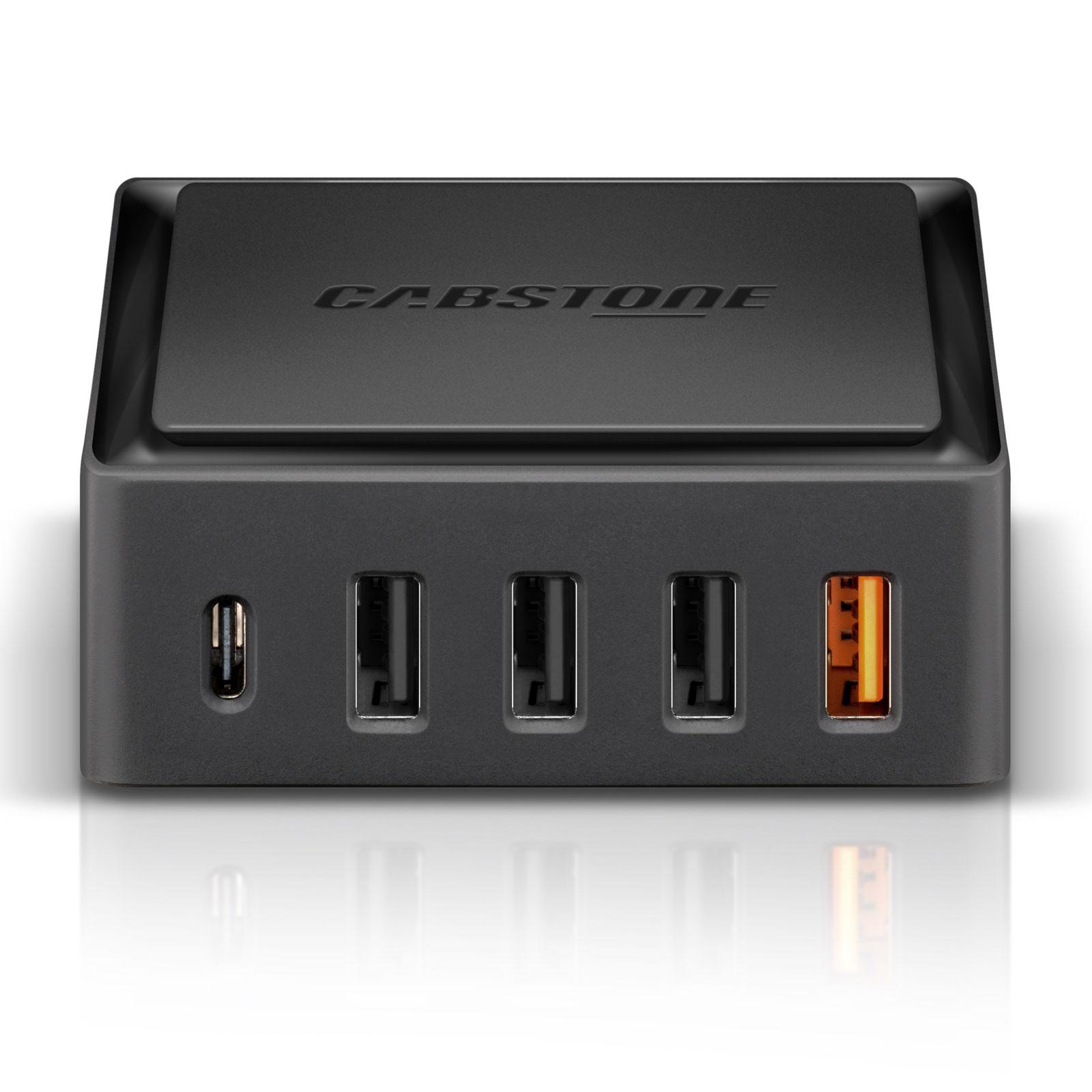 cabstone quick charge 5 ports desktop charger usb cabstone sur. Black Bedroom Furniture Sets. Home Design Ideas
