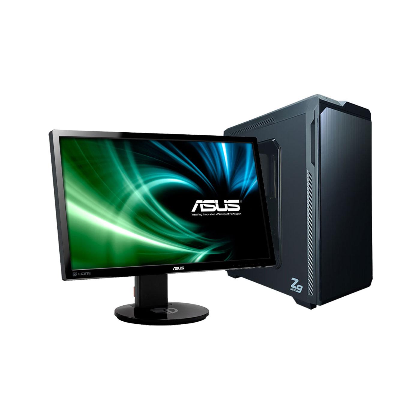 """PC de bureau LDLC PC10 Magna + ASUS 24"""" LED 3D - VG248QE Intel Core i5-8400 8 Go HDD 1 To NVIDIA GeForce GTX 1070 Ti 8 Go Graveur DVD Wi-FI N Windows 10 Famille 64 bits (monté) + Ecran 24 pouces FHD 144 Hz"""