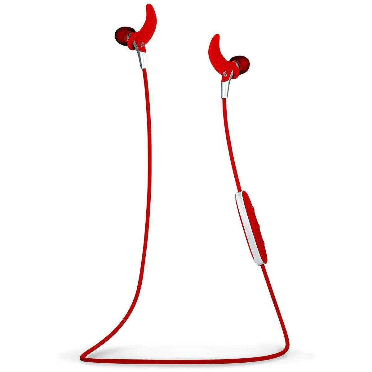 Casque Jaybird Freedom Rouge Écouteurs intra-auriculaires sportifs sans fil Bluetooth avec micro intégré
