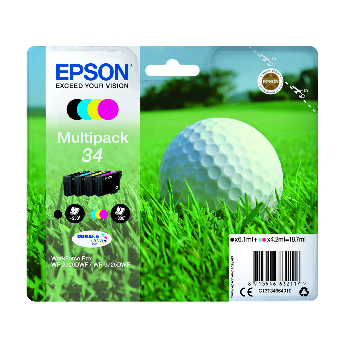 epson balle de golf multipack 34 cartouche imprimante epson sur. Black Bedroom Furniture Sets. Home Design Ideas
