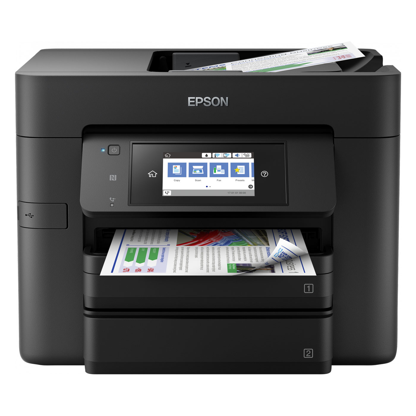 epson workforce pro wf 4740dtwf imprimante multifonction epson sur. Black Bedroom Furniture Sets. Home Design Ideas