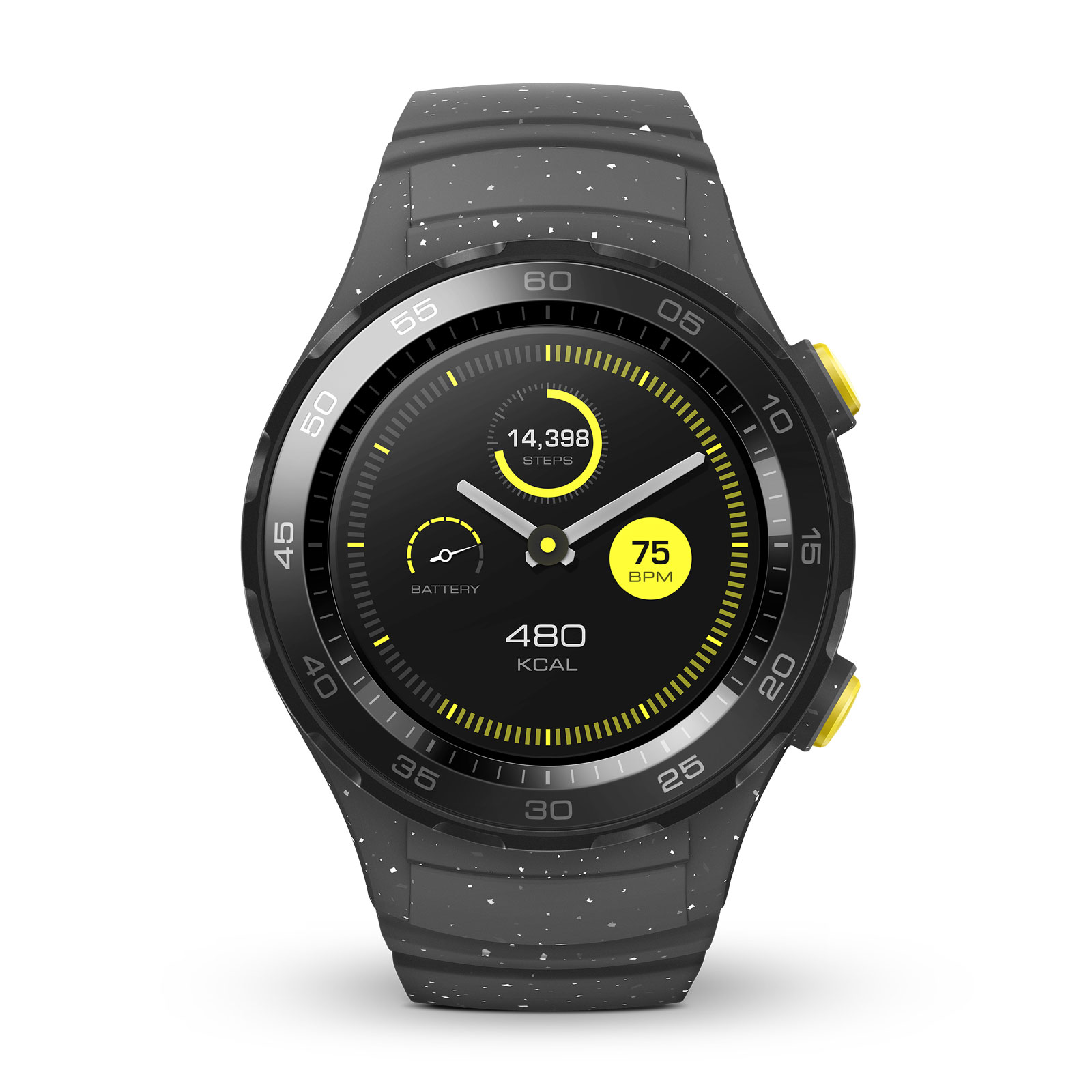Montre connectée Huawei Watch 2 Sport Gris Montre connectée IP68 - Wi-Fi/Bluetooth/NFC - GPS - Cardio-fréquencemètre - Android Wear 2.0 - iOS/Android