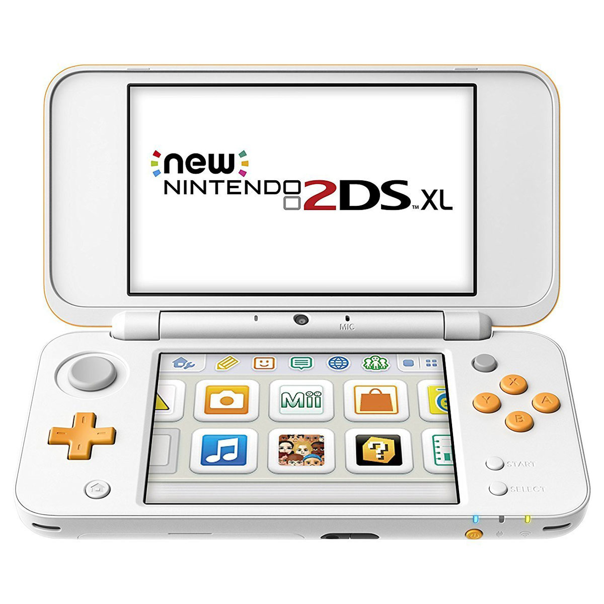 nintendo new 2ds xl blanc orange console nintendo 3ds. Black Bedroom Furniture Sets. Home Design Ideas