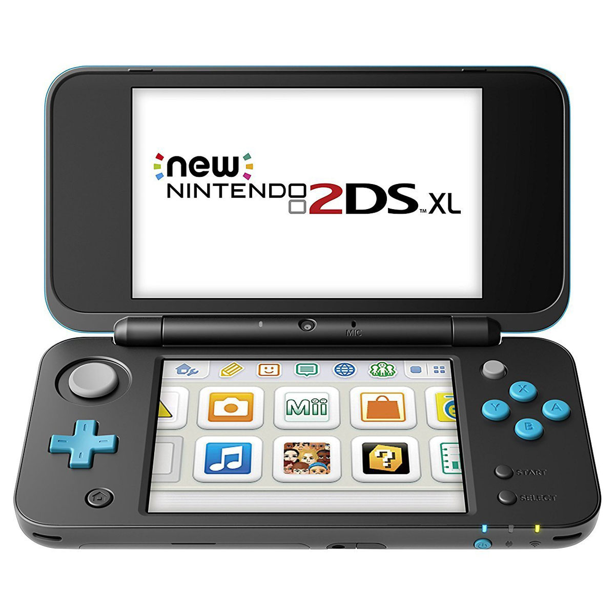 nintendo new 2ds xl noir turquoise console nintendo. Black Bedroom Furniture Sets. Home Design Ideas