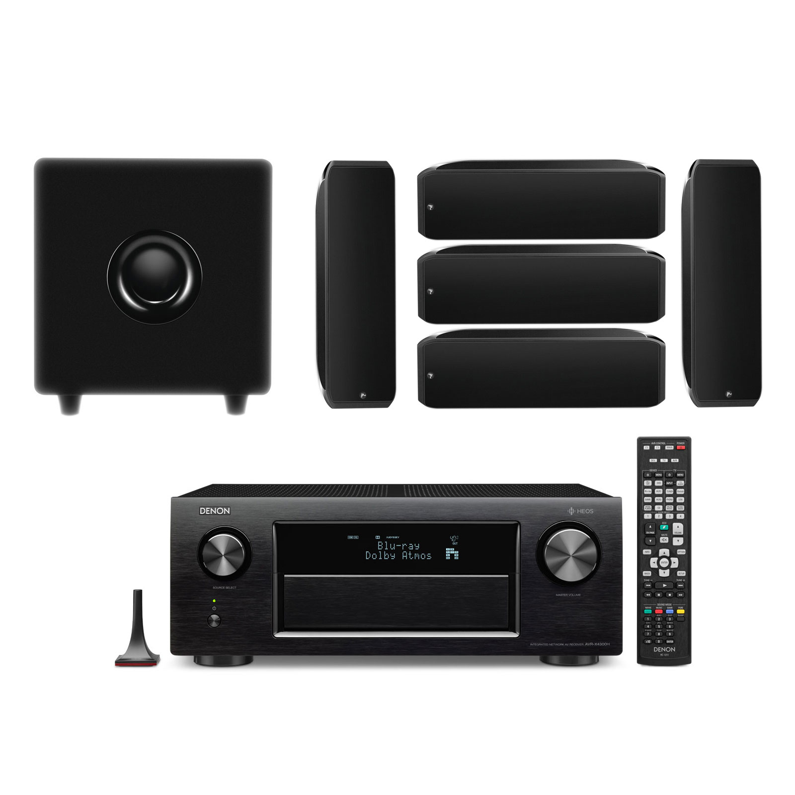 denon avr x4300h noir focal sib cub xl pack ensemble home cin ma denon sur. Black Bedroom Furniture Sets. Home Design Ideas