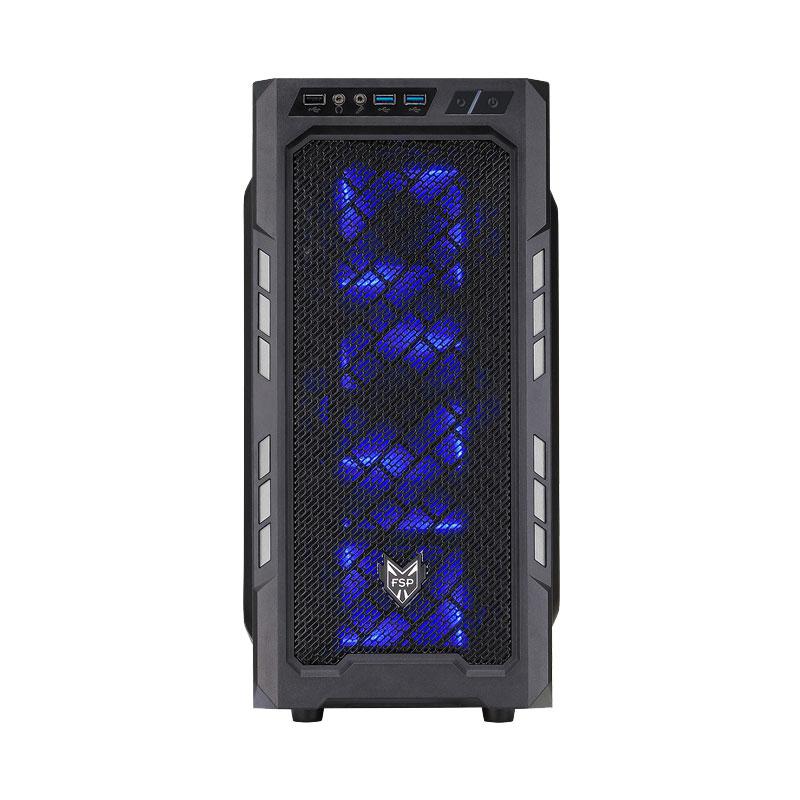 Boîtier PC FSP CMT210 (Argent) Boîtier Moyen Tour Noir/Argent