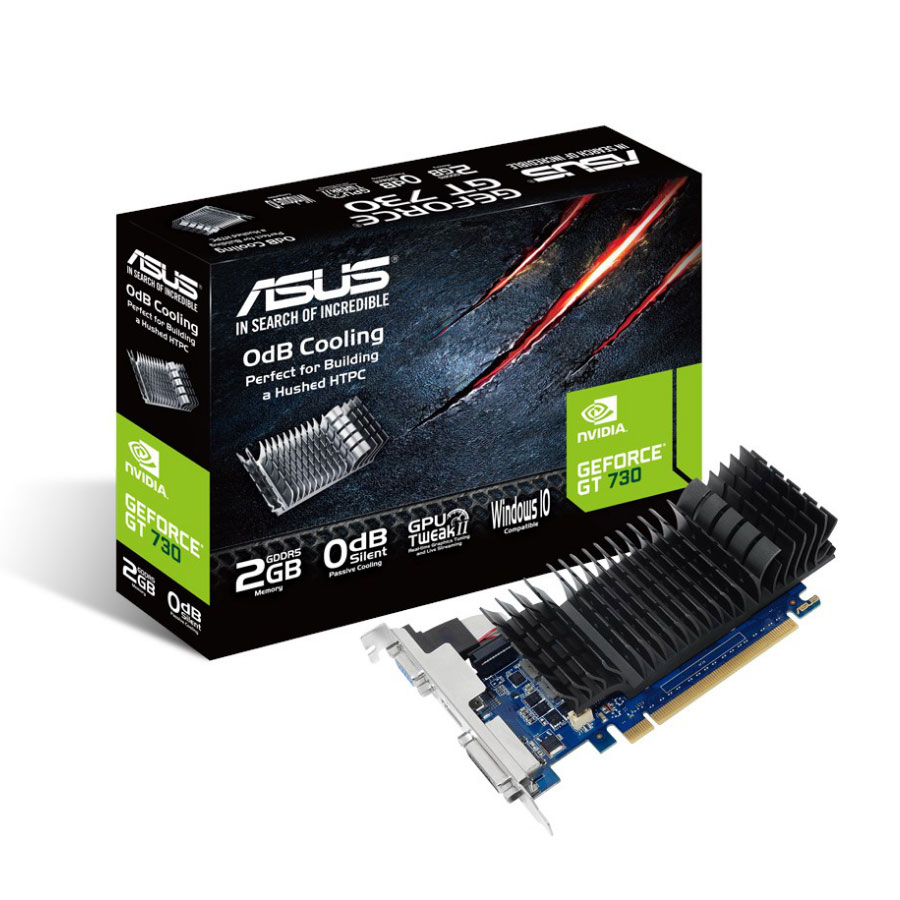 asus gt730 sl 2gd5 brk geforce gt 730 2 go carte graphique asus sur. Black Bedroom Furniture Sets. Home Design Ideas