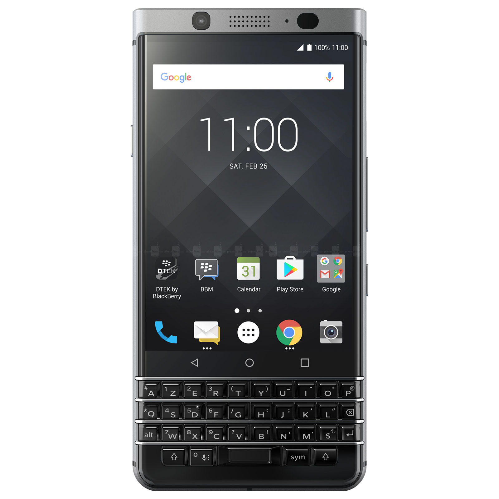 "Mobile & smartphone BlackBerry KEYone Argent (3 Go / 32 Go) Smartphone 4G-LTE AZERTY - Snapdragon 625 8-Core 2 GHz - RAM 3 Go - Écran tactile 4.5"" 1620 x 1080 - 32 Go - NFC/Bluetooth 4.2 - 3505 mAh - Android 7.1"