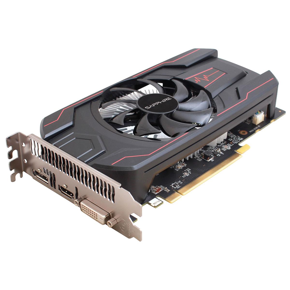 Carte graphique Sapphire PULSE Radeon RX 560 2GD5 OC Lite 2 Go DVI/HDMI/DisplayPort - PCI Express (AMD Radeon RX 560)