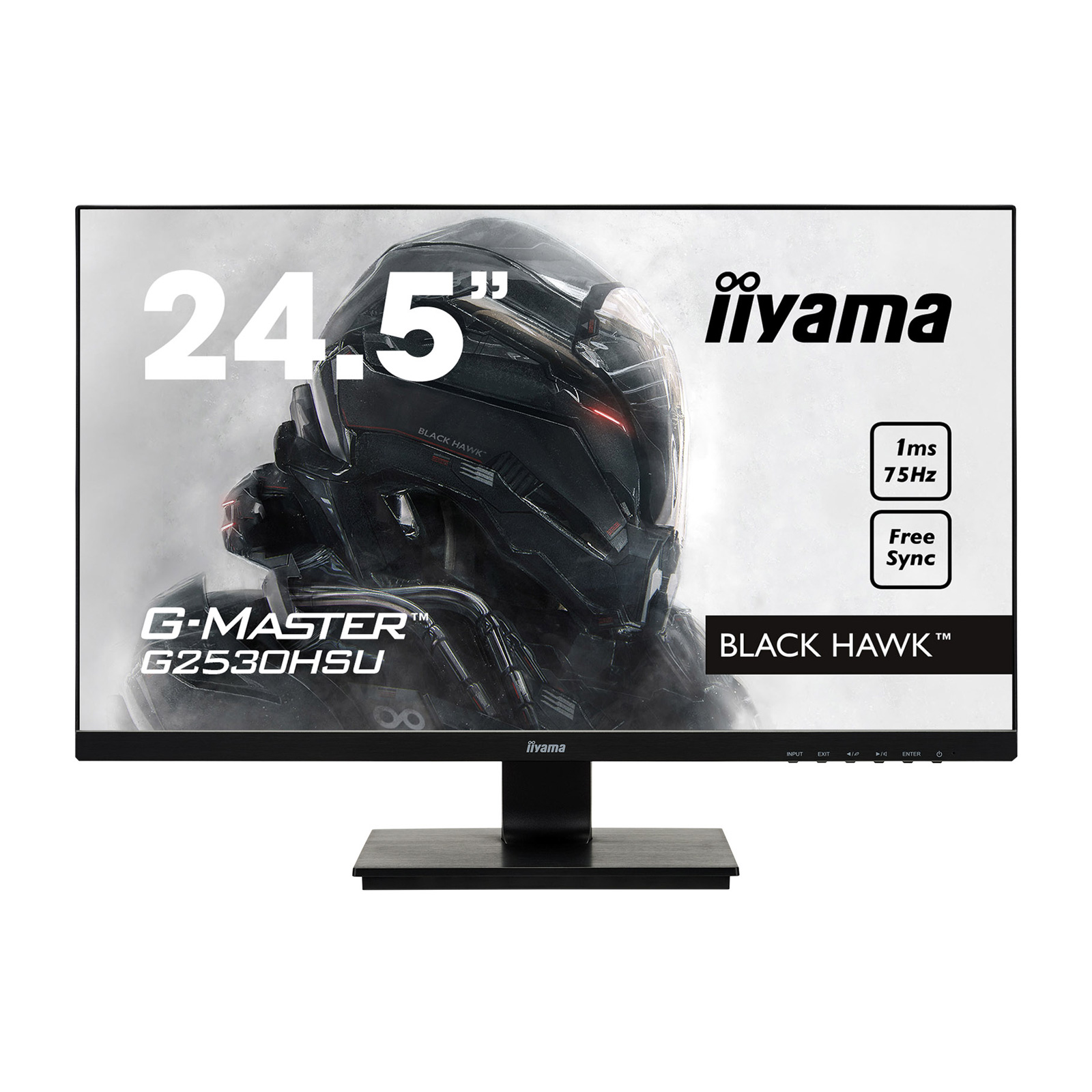 iiyama 24 5 led g master g2530hsu b1 black hawk ecran pc iiyama sur. Black Bedroom Furniture Sets. Home Design Ideas