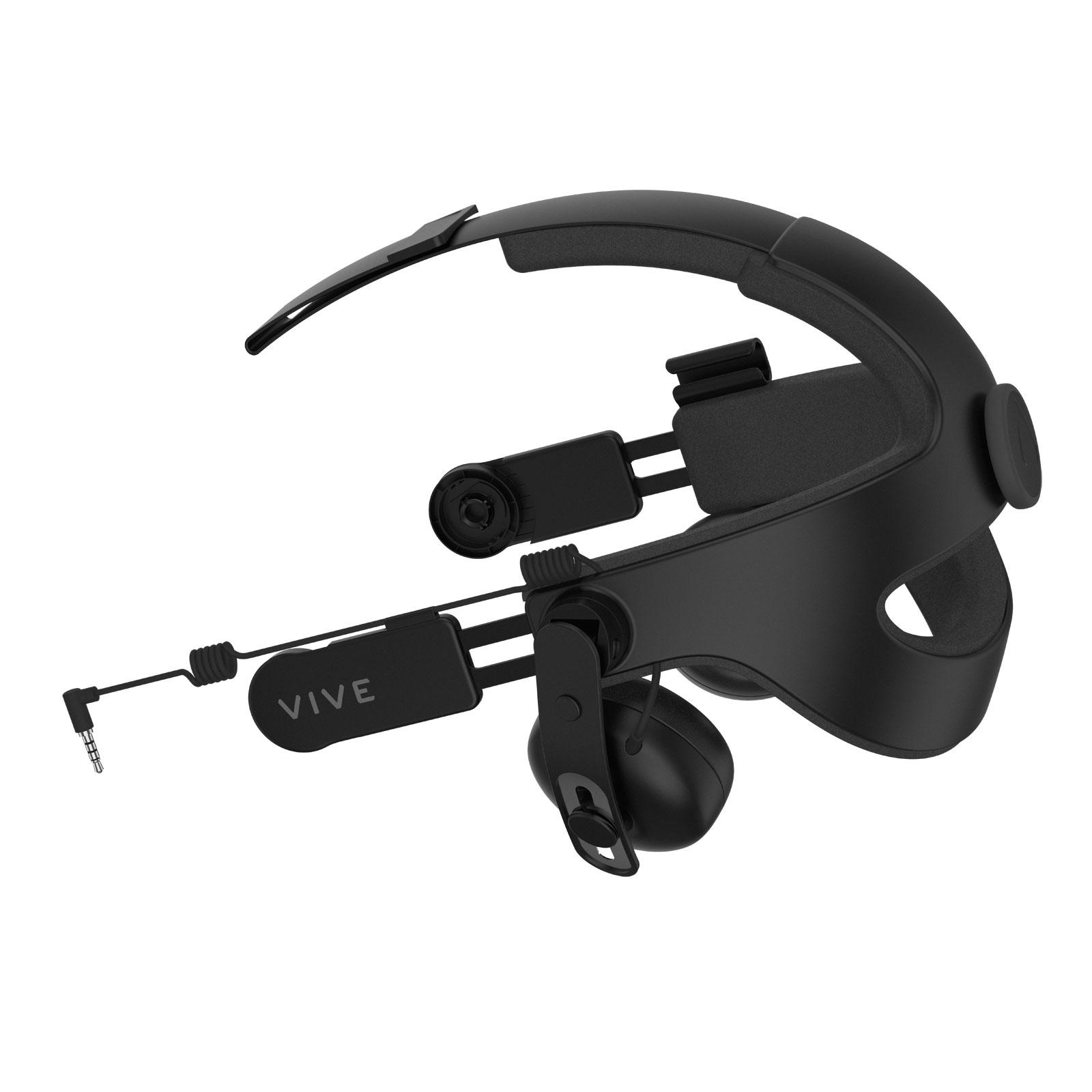 Casque Réalité Virtuelle HTC Deluxe Audio HeadStrap Serre-tête avec casque audio intégré pour HTC Vive