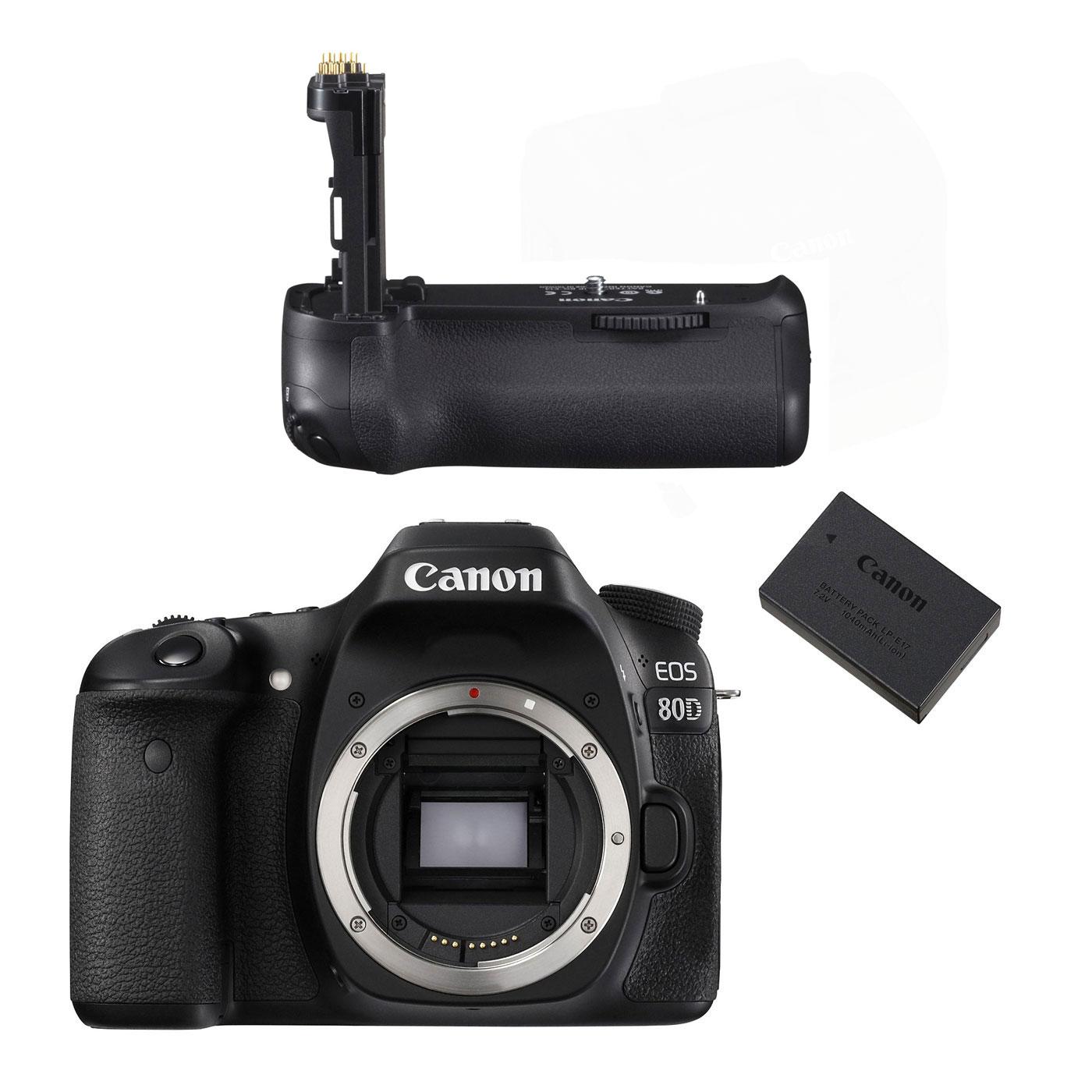 Canon eos 80d bg e14 lp e6n appareil photo reflex for Ecran appareil photo canon