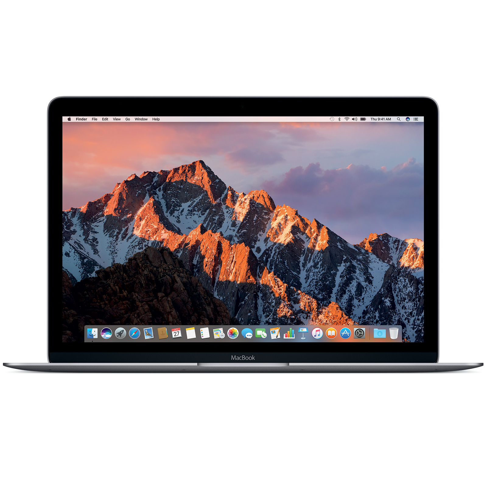 "Macbook Apple MacBook 12"" Gris sidéral (MNYF2FN/A) Intel Core m3 (1.2 GHz) 8 Go SSD 256 Go 12"" LED Wi-Fi AC/Bluetooth Webcam Mac OS X Sierra"