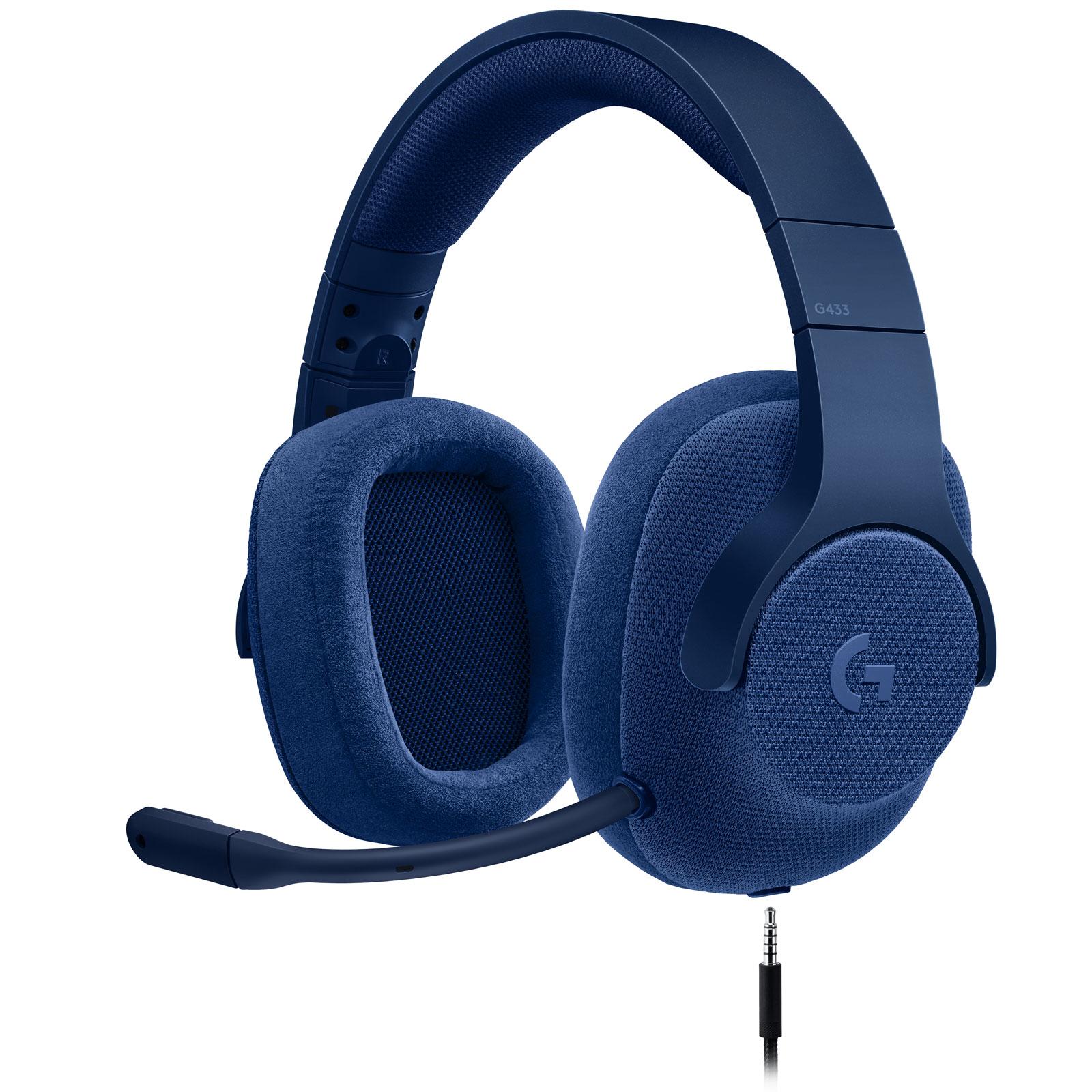 logitech g433 7 1 surround sound wired gaming headset bleu. Black Bedroom Furniture Sets. Home Design Ideas
