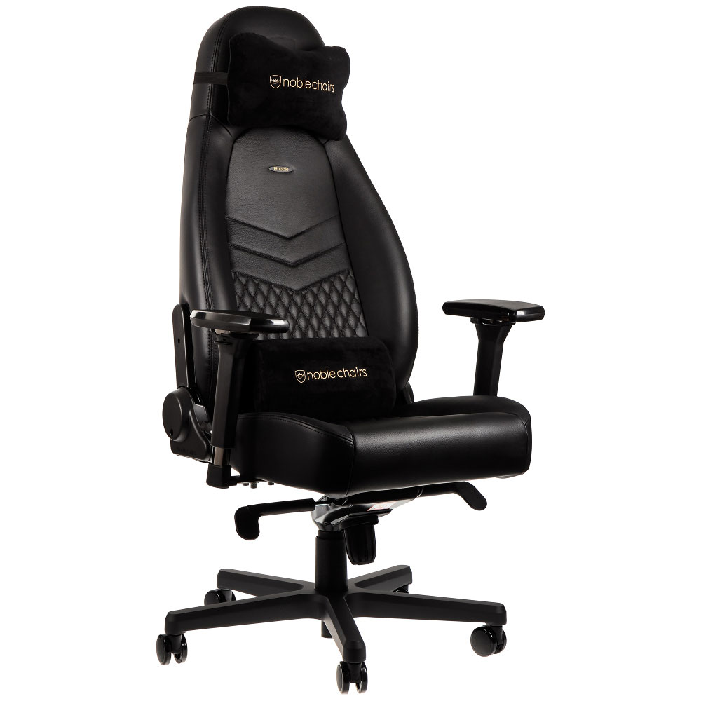 noblechairs icon cuir noir fauteuil gamer noblechairs. Black Bedroom Furniture Sets. Home Design Ideas