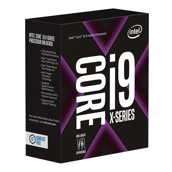 Processeur Intel Core i9-7900X (3.3 GHz) Processeur 10-Core Socket 2066 Cache L3 13.75 Mo 0.014 micron TDP 140W (version boîte sans ventilateur - garantie Intel 3 ans)