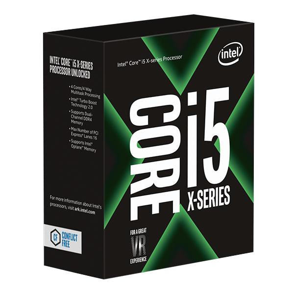 Processeur Intel Core i5-7640X (4.0 GHz) Processeur Quad-Core Socket 2066 Cache L3 6 Mo 0.014 micron TDP 112W (version boîte sans ventilateur - garantie Intel 3 ans)
