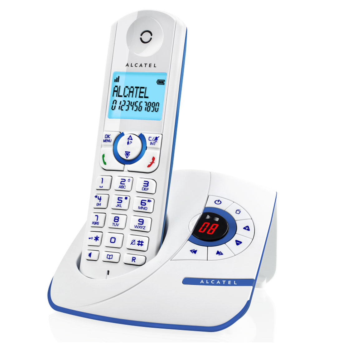 alcatel f390 voice bleu t l phone sans fil alcatel sur. Black Bedroom Furniture Sets. Home Design Ideas