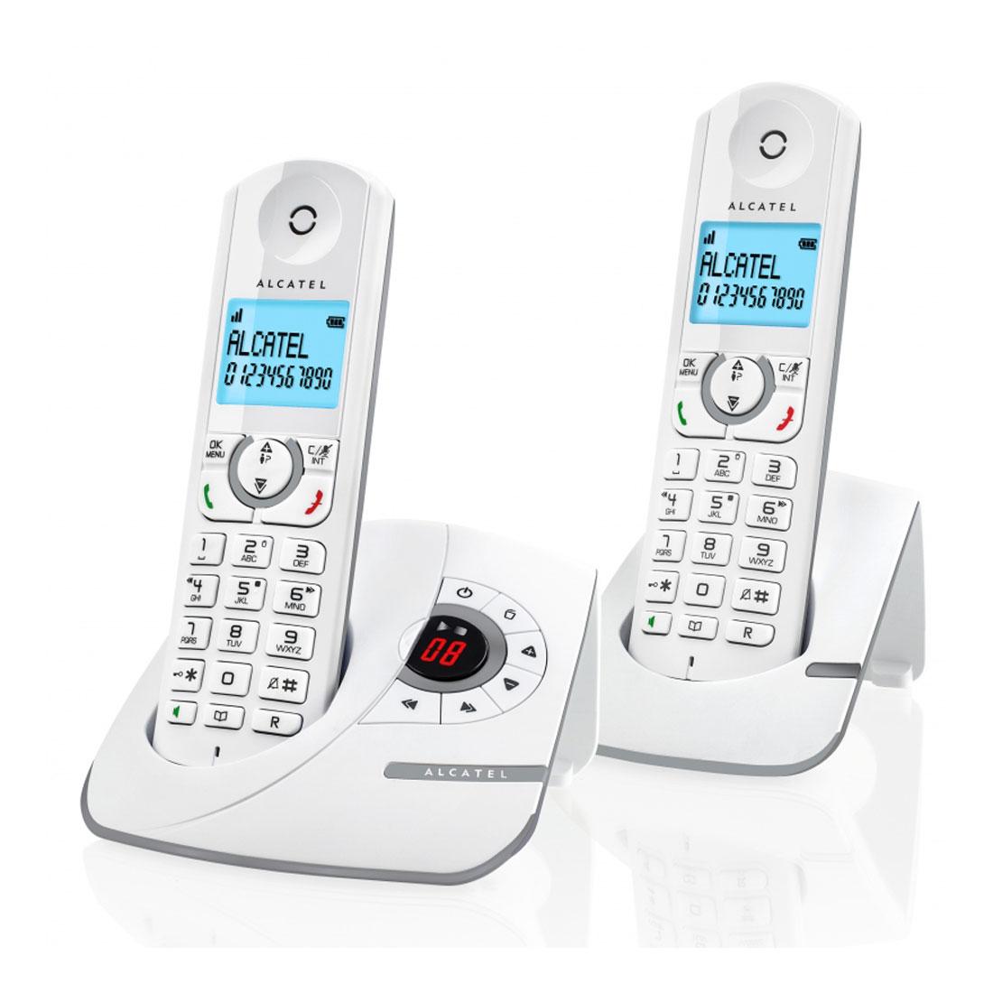 Téléphone sans fil Alcatel F390 Voice Duo Gris Téléphone sans fil avec répondeur et 1 combiné supplémentaire
