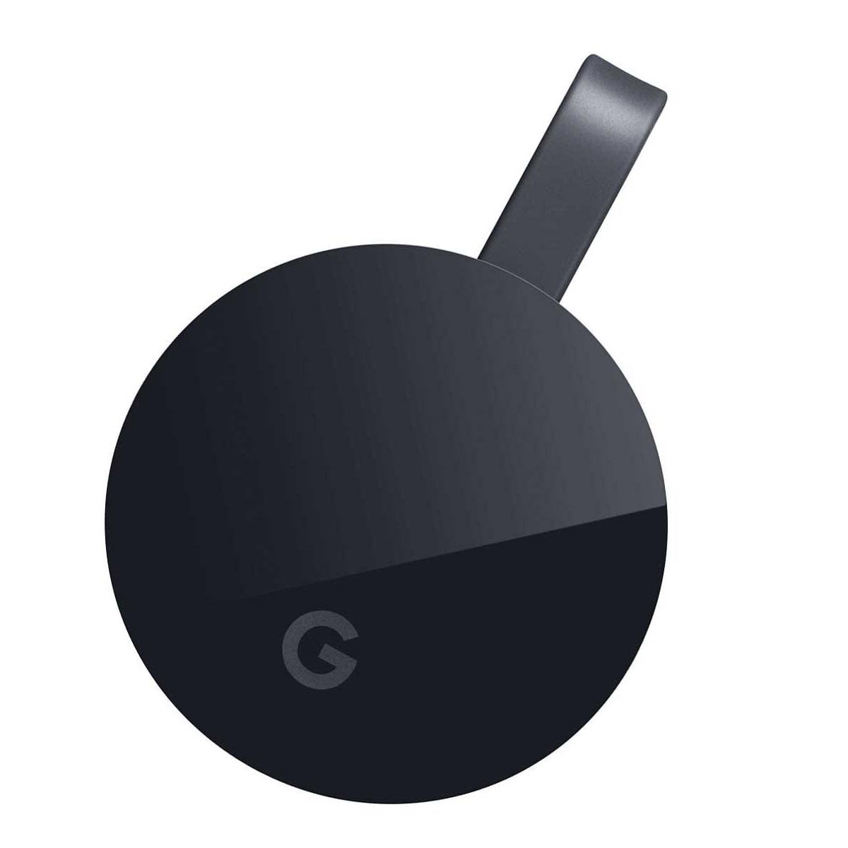 Lecteur multimédia Google Chromecast Ultra Appareil Multimédia de diffusion de contenus 4K Ultra HD et HDR sur port HDMI pour Smartphone et Tablette