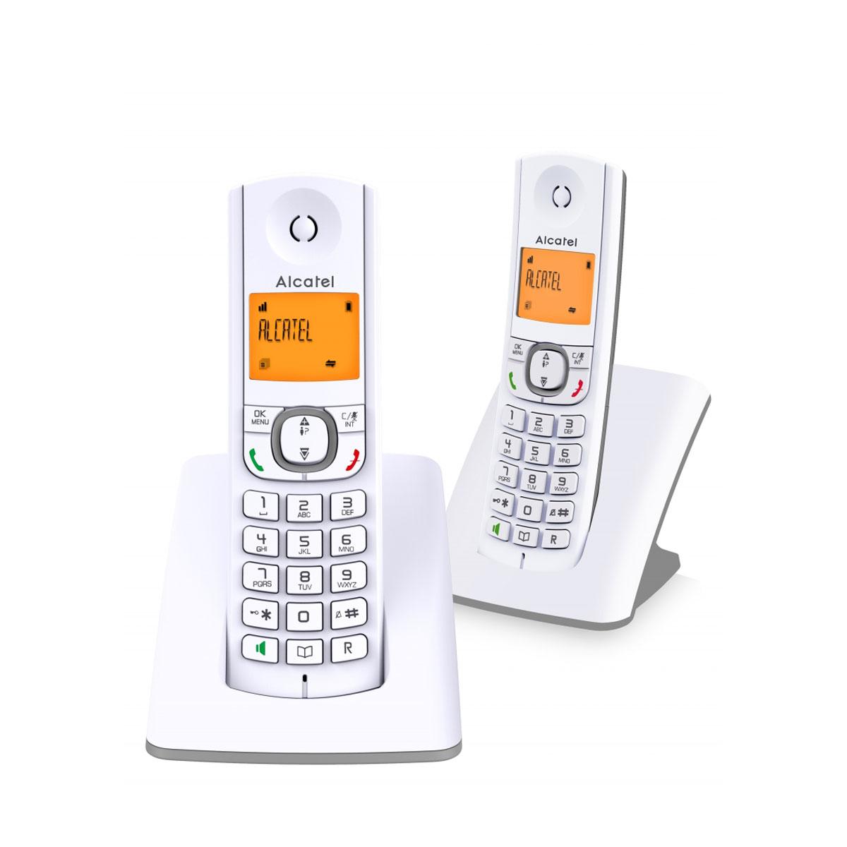 alcatel f530 duo gris t l phone sans fil alcatel sur. Black Bedroom Furniture Sets. Home Design Ideas