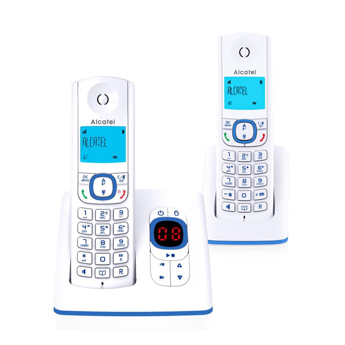 Téléphone sans fil Alcatel F530 Voice Duo Bleu Téléphone sans fil avec répondeur et 1 combiné supplémentaire
