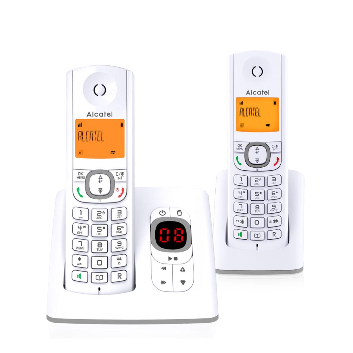 Téléphone sans fil Alcatel F530 Voice Duo Gris Téléphone sans fil avec répondeur et 1 combiné supplémentaire